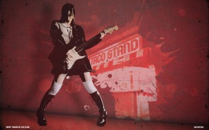 музыка, -другое, стена, ботинки, девушка, гитара