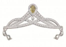 диадема, бриллианты, украшение