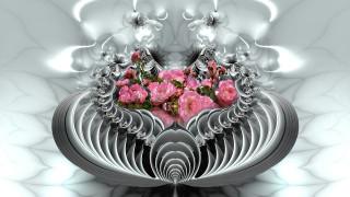 узор, фон, цвет, цветы, розы