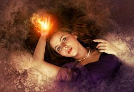 волшебство, красивая девушка, author enrique meseguer