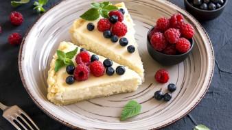 торт, малина, черника