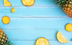 ананас, pineapple, fruit, fresh, wood, slice, фрукты, ломтики