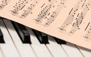 клавиши, ноты