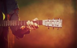 руки, гриф, гитара