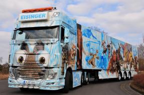 автомобили, daf , выставка, улица, тягач, седельный, грузовик