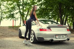 девушка и porsche turbo s, автомобили, -авто с девушками, кроссовки, деревья, porsche, штаны, для, йоги, автомобиль, женщины, на, открытом, воздухе, wallhaven, turbo, s, купе, солнцезащитные, очки