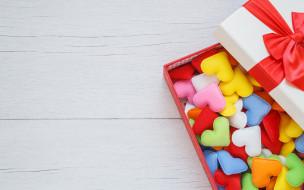 праздничные, угощения, любовь, сердечки, box, gift, romantic, love, colorful, подарок, hearts