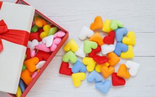 праздничные, угощения, love, box, подарок, romantic, colorful, hearts, любовь, сердечки, gift
