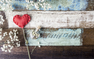 red, цветы, vintage, love, wood, romantic, любовь, сердце, flowers, heart, beautiful