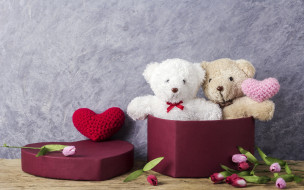 gift, любовь, love, wood, romantic, тюльпаны, cute, мишка, розовые, heart, цветы, сердце, pink, игрушка, tulips