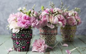 обои для рабочего стола 2880x1800 цветы, гвоздики, flowers, pink, romantic, лепестки, розовые, vintage, beautiful