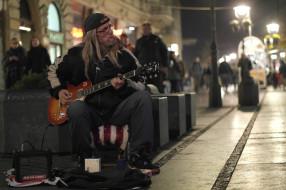 музыка, -другое, улица, очки, гитара, мужчина