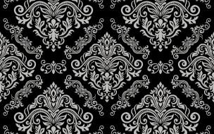 vector, pattern, floral, серый, vintage, grey, черный, seamless, background, орнамент, element