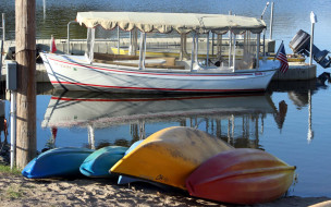 лодки, катер