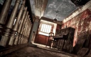 помещение, стул, пианино