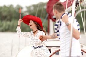 любовь, прогулка на яхте, отдых, парень, пара, девушка