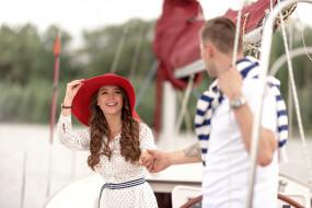 отдых, парень, любовь, пара, девушка, прогулка на яхте