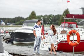 пара, прогулка на яхте, отдых, любовь, парень, девушка