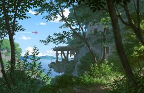 природа, деревья, арт