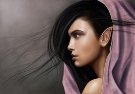 фэнтези, эльфы, девушка, фон, взгляд