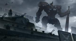 pacific rim, укрепления, art, робот, меч, jaeger