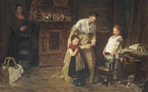 1875, Danish portrait painter, Новые друзья, New friends, Берта Вегманн, Bertha Wegmann, датская художница-портретистка