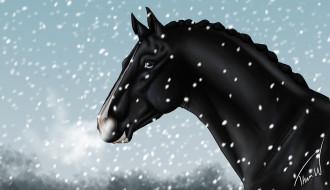 векторная графика, животные , animals, фон, лошадь