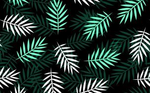 текстура, white, leaves, pattern, green