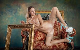 xxx, gracie, грудь, фон, взгляд, девушка, красотка, голая, поза, кресло