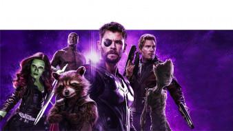 power stone poster, avengers infinity war, 2018, мстители война бесконечности, ракета, тор, звездный лорд, фантастика