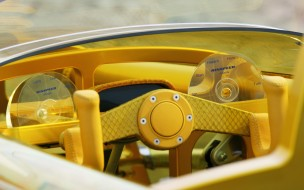диск, концепт, желтый, руль
