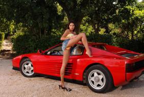 авто, девушки
