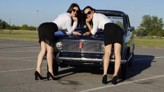 девушки, авто