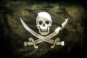 обои для рабочего стола 2799x1881 кино фильмы, pirates of the caribbean, сабли, череп, флаг, пираты