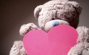 праздничные, день святого валентина,  сердечки,  любовь, игрушка, мишка, сердечко