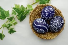 праздничные, пасха, яйца, веточка, праздник, корзина, весна, листья