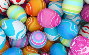 colorful, spring, Easter, eggs, Пасха