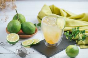 лайм, лед, лимонад