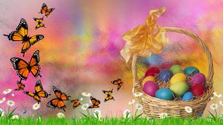 праздничные, пасха, бабоЧка, Яйца