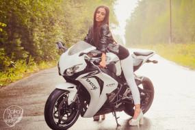 мотоциклы, девушки