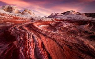 sunrise, usa, arizona, white pocket, desert