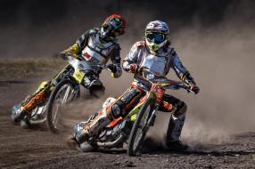 гонка, мотоциклы, Speedway