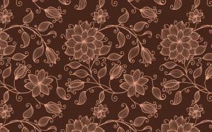цветы, фон, узор, текстура