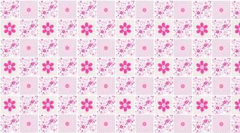 обои для рабочего стола 1954x1090 векторная графика, цветы , flowers, цветы, фон, текстура, арт, розовое, квадратик