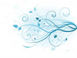 floral, Blue, design, background