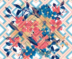 elements, Summer, Floral, background, текстура, geometric, design, Abstract, Texture, фон
