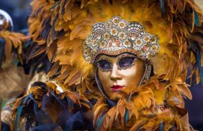 маскарад, маска, перья, Венеция