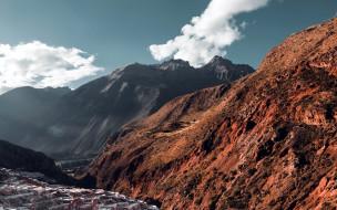 облака, горы