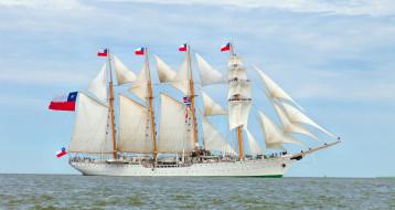 esmeralda, корабли, парусники, мачты, паруса