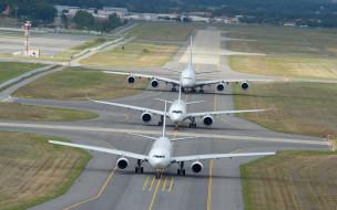 wallhaven, аэропорт, airbus a-380-861, airbus a350, airbus a330, взлетно-посадочная полоса, a380